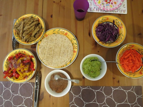 Mexican feast, with seitan