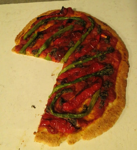 Homemade pizza!  Made with yeast!!