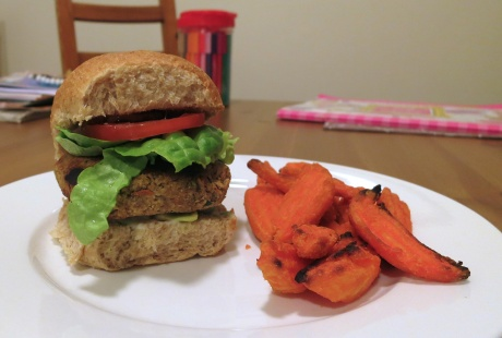 Nutty veggie burger