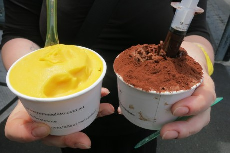 Mango and chocolate