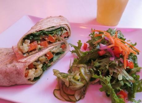 Sol Cal Cafe Panini wrap