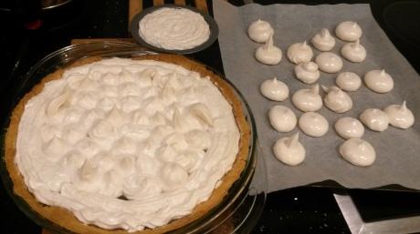 Vegan meringue, before baking
