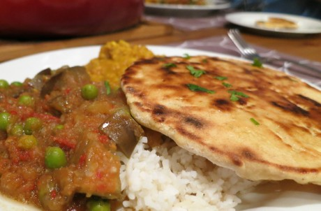 Indian feast from Veganissimo