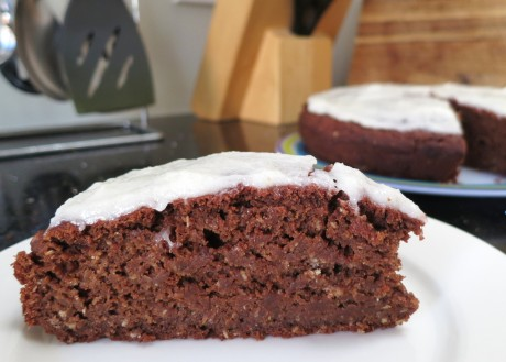 Moist beet and chocolate cake