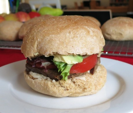 vegan BLAT on homemade bun