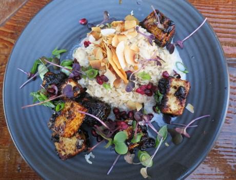 BBQ tofu with coconut rice