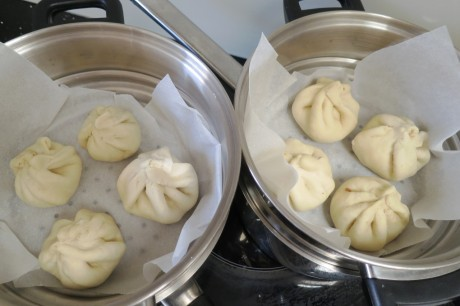 The buns before steaming