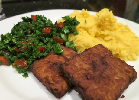 Tempeh tickle and polenta