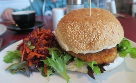 Rubyfruit Southern Fried Chickn Burger